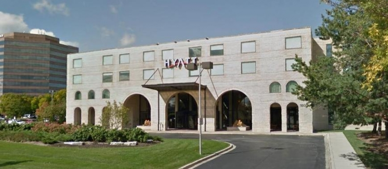 prudential to sell hyatt regency woodfield to first equity group