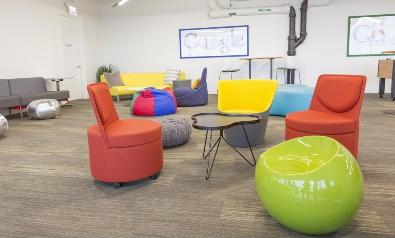 google office tour home office photo google debuts new west loop office space